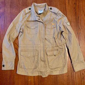 Old Navy Khaki Tan military inspired jacket Medium